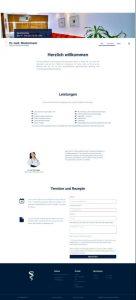 schlichte Homepage einer Arztpraxis | Referenz de-serve