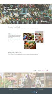 Blumenshop Über uns Website| Referenz de-serve