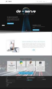 Referenz de-serve Website 2018 Homepage