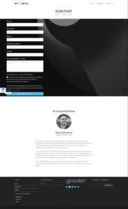 Referenz de-serve Website 2018 Kontakt